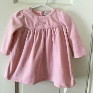 Ralph Lauren Velour Toddler Dress Pink